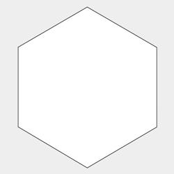六角形型コースター