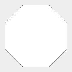 八角形型コースター