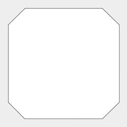 八角型変型コースター